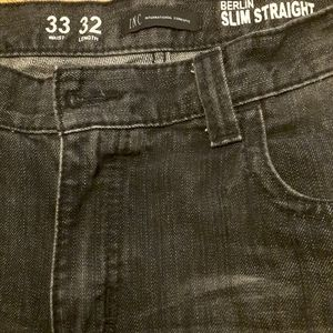 Inc black Berlin slim straight jeans